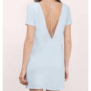 TOBI nwot light blue shift dress